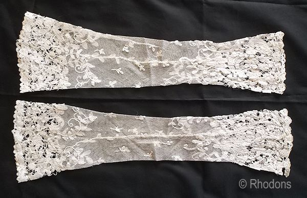 Victorian Lace Fingerless Gloves, Mittens