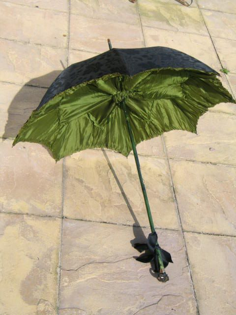 Edwardian Ladies Silk Parasol, S Fox Paragon Frame