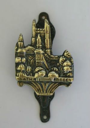 Antique Brass Door Knocker, Bath Abbey. Early 1900s