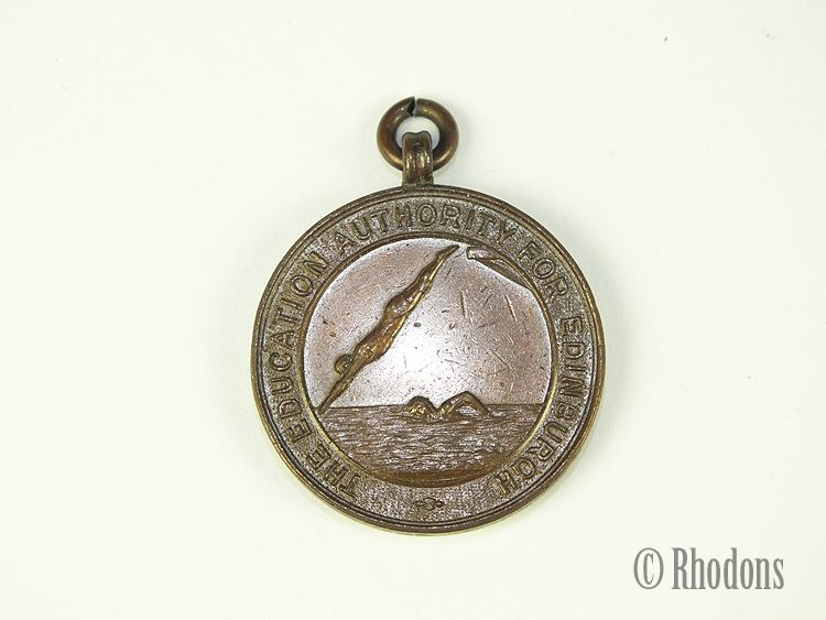 The Education Authority For Edinburgh, Bronze Award Medal For Swimming, Early 1900s