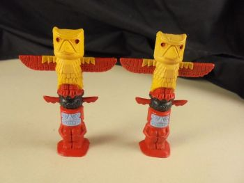 Vintage Timpo Totem Poles - Lot of 2