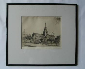 Glasgow Cathedral, Artist Signed Proof Etching By A P Thomson R S W