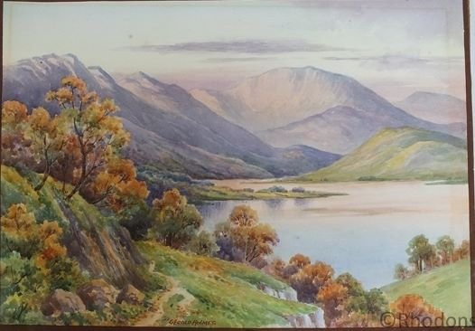 Glen Falloch & Loch Lomond Scotland, Original Watercolour Painting By Gerald Holmes
