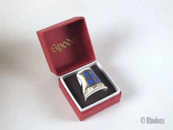 Spode Bone China Commemorative Thimble, Josiah Spode 250th Anniversary, Boxed