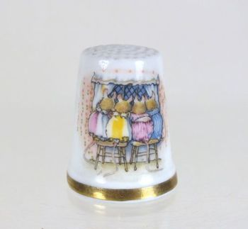 Royal Doulton Brambly Hedge China Thimble, Little Children, Boxed