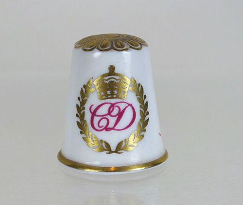 Charles & Diana Royal Wedding 1981, Spode Collectors Thimble, Boxed