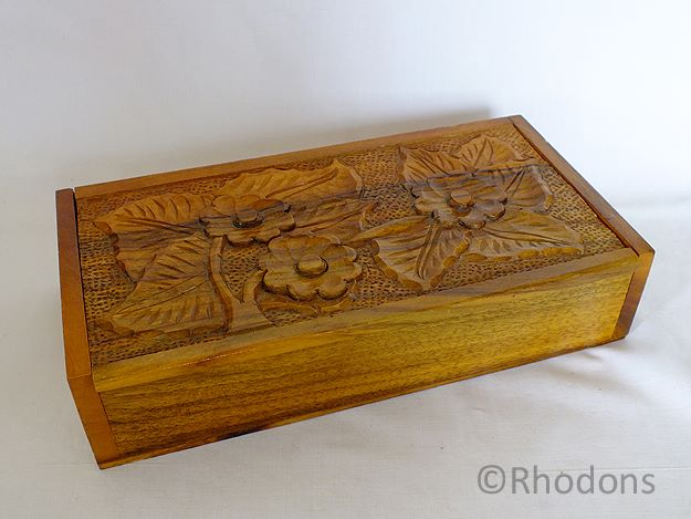 Carved Wood Box, 1950s, 1960s