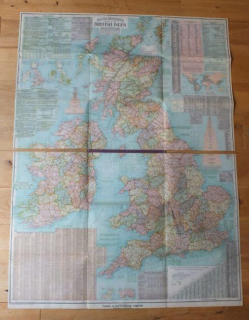 Richardsons New Chart Of British Isles - Circa 1912 (RESERVED)