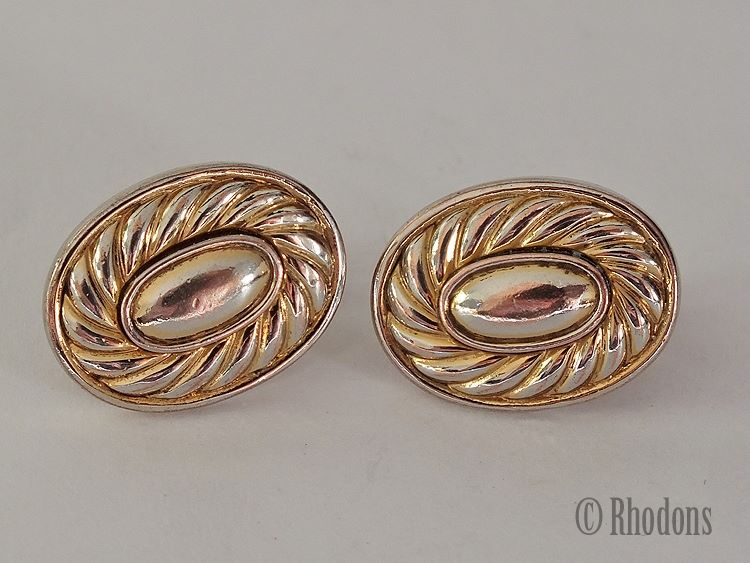 Vintage Napier Goldtone Earrings