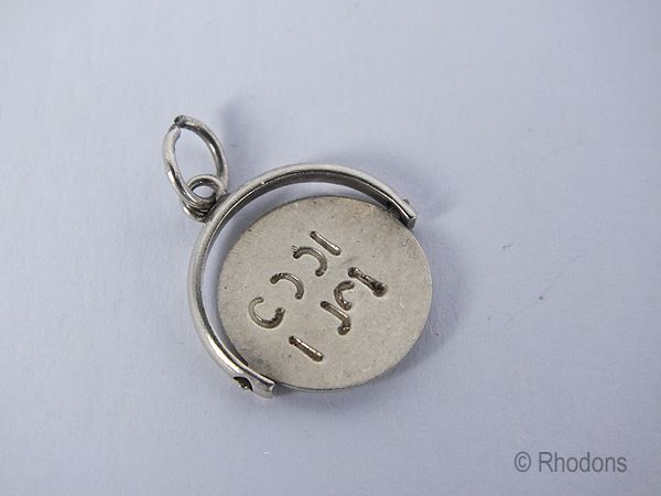 Sterling Silver Good Luck Spinner Bracelet Charm