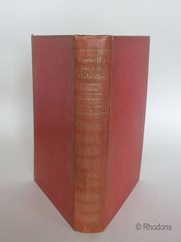 Boswell's Journal Of A Tour To The Hebrides With Samuel Johnson - James Boswell