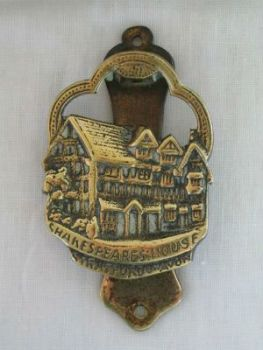 Antique Brass Door Knocker, Shakespeares House