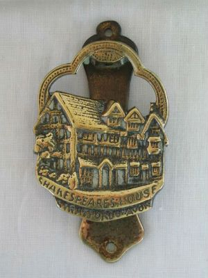Antique Brass Door Knocker, Shakespeares House