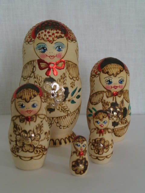 Russian Stacking Nesting Matryoshka Dolls