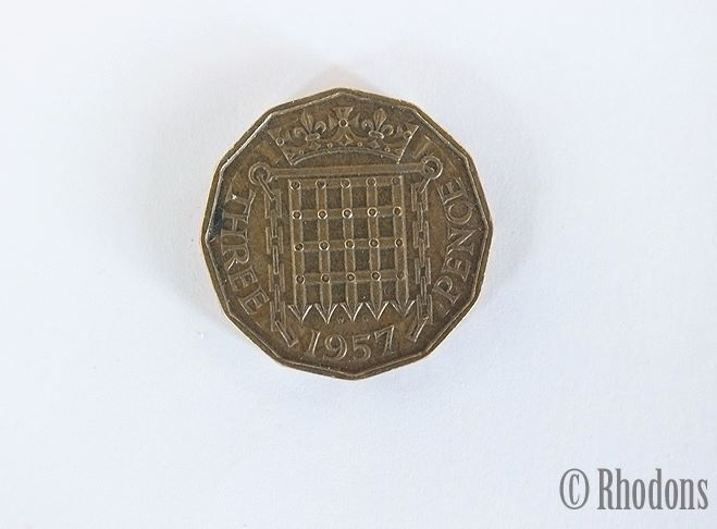 1957 Brass Threepence Coin (3d)