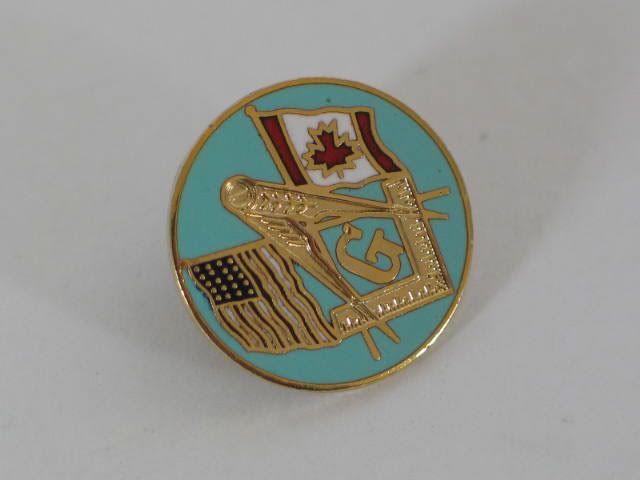 Masonic Enamel Badge, USA / Canada