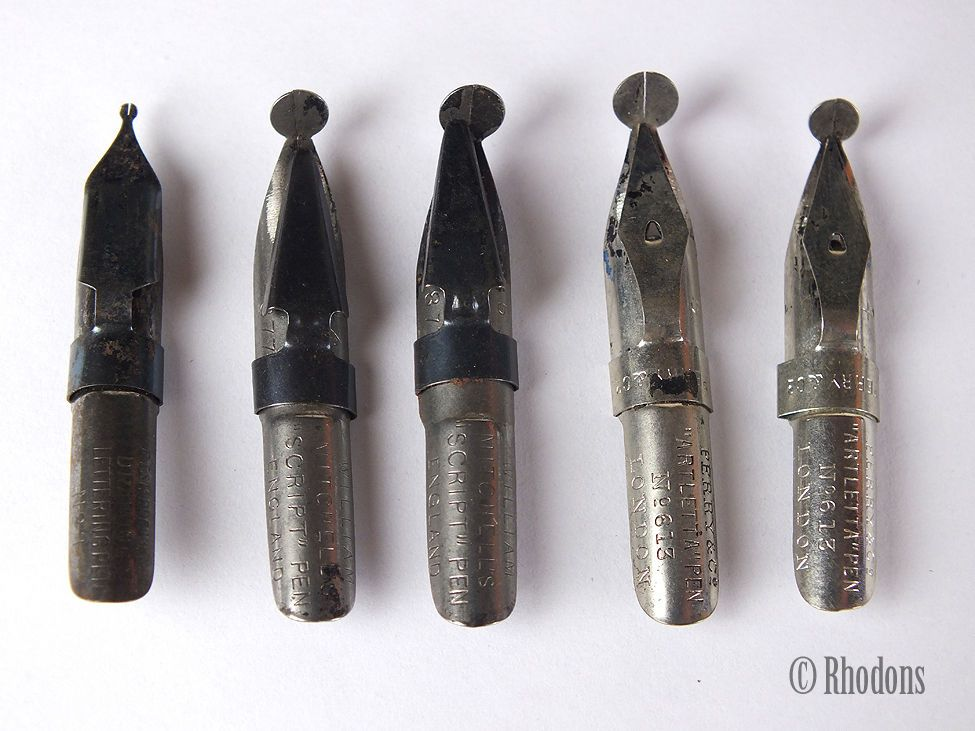 Vintage Special Pen Nibs, Selection of 5, William Mitchells, Perry & Co