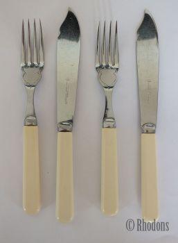 Vintage Fish Knives & Forks x2