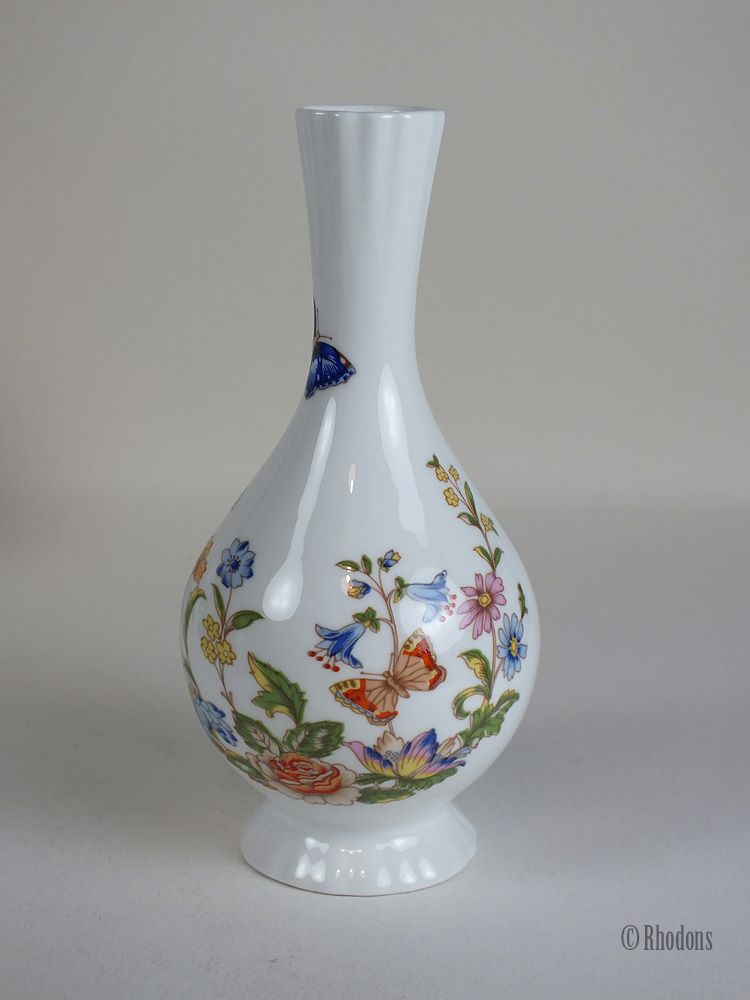 Aynsley Fine Bone China Bud Vase, Cottage Garden Pattern