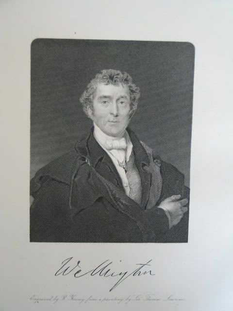 Duke of Wellington, Antique Print By R Young After Lawrence