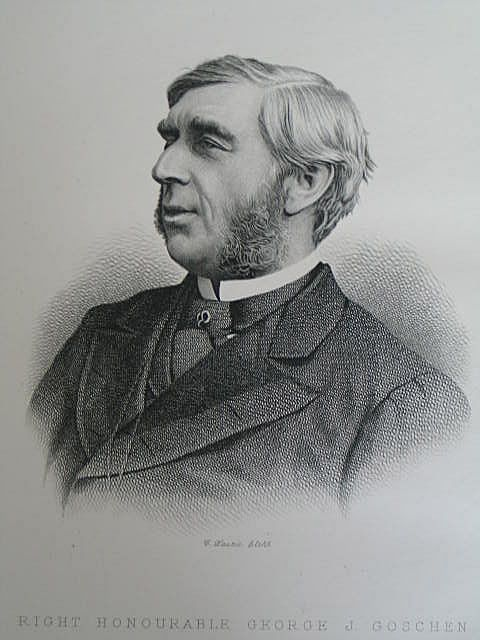 George J Goschen MP, Victorian Portrait Print by C Laurie