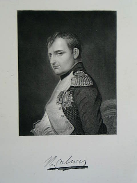 Napoleon Bonaparte, Victorian Portrait Print by S Freeman After Delaroche
