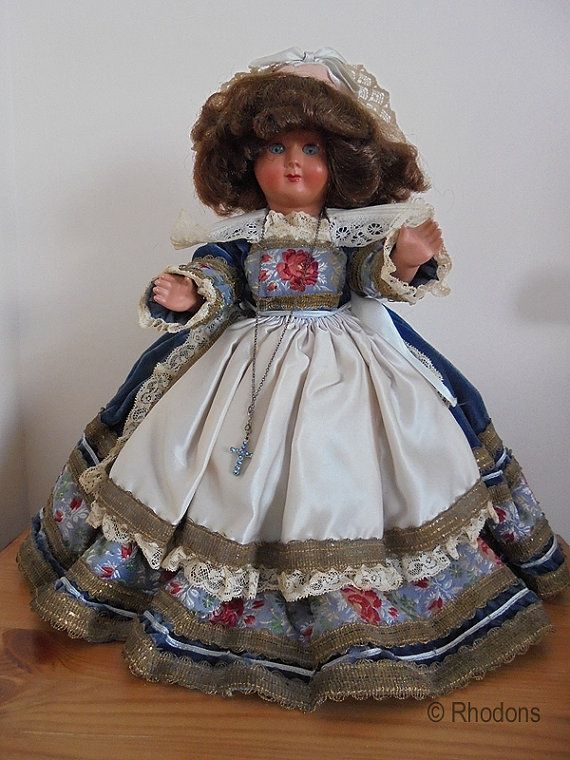 French Celluloid Costume Doll, 1950s