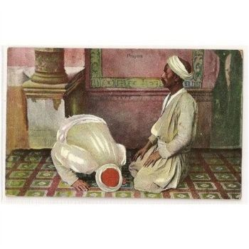 Egypt: Prayers. Max H Rudman, Early 1900s Postcard