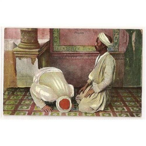 Egypt: Prayers. Max H Rudman, Early 1900s Postcard