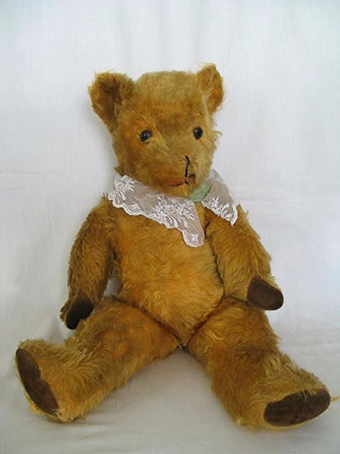 Pedigree Golden Mohair Teddy Bear, Circa 1950s