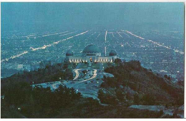 USA: California. Griffith Observatory Greater Los Angeles, Circa 1950s Postcard