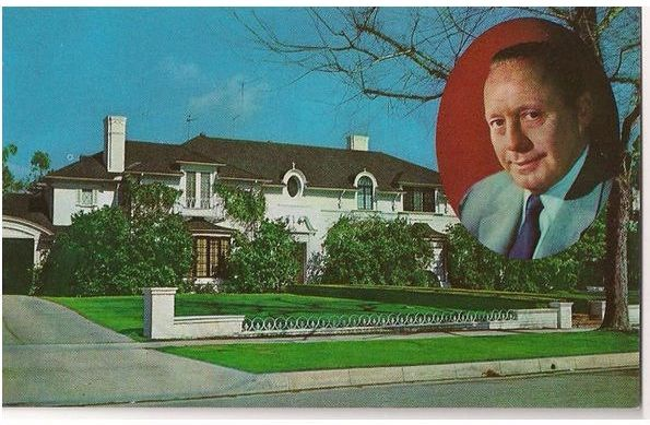 USA: California. Residence of Jack Benny, Beverly Hills - Circa 1950s Postcard
