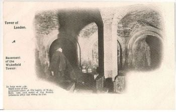 England: London.The Tower of London Basement Of Wakefield Tower - Early 1900s