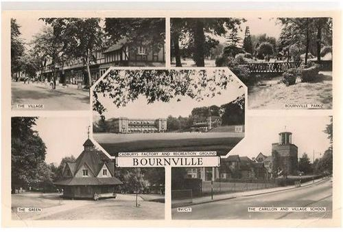 England: Shropshire. Bournville Multiview, 1960s  Real Photo Postcard