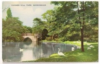 Cannon Hill Park, Birmingham, Wawickshire. Early 1900s Postcard