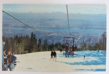 Vancouver, B C: View From Grouse Mountain - 1970s /1980s