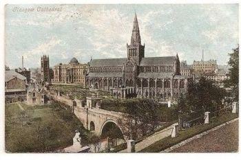 Scotland: Glasgow Cathedral - Valentines 1904 Postcard