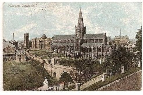 Scotland: Glasgow Cathedral - Valentines 1904 Postcard