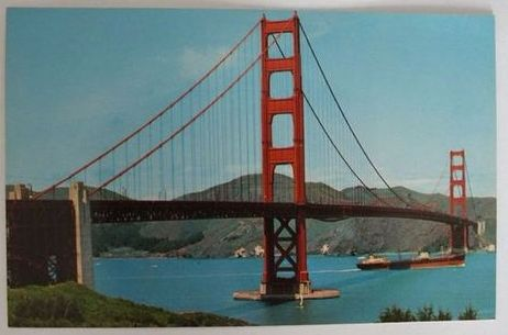 USA: California, Golden Gate Bridge, San Francisco. Circa 1970s / 1980s Postcard