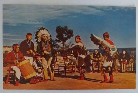USA: Arizona. Hopi Indian Dancers, Grand Canyon, Arizona, USA, Postcard