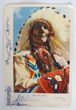 Canada: Alberta. Chief Sitting Eagle, Banff. Colour Printed Postcard