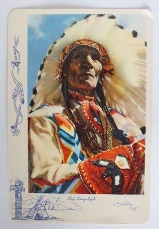Canada: Alberta. Chief Sitting Eagle, Banff. Colour Postcard