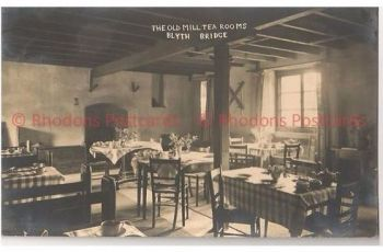 Scotland: Scottish Borders, The Old Mill Tea Rooms, Blyth Bridge,1930s Real Photo Postcard