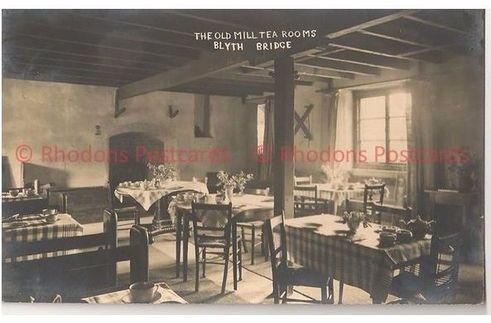 Scotland: Scottish Borders, The Old Mill Tea Rooms, Blyth Bridge,1930s Real Photo Postcard