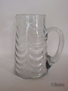 Antique Tall Glass Water Jug / Lemonade Jug, Early 1900s