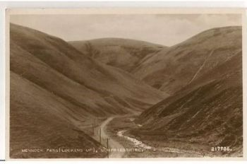 Scotland: Dumfriesshire, Mennock Pass. 1960s Real Photo Postcard