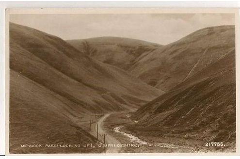 Scotland: Dumfriesshire, Mennock Pass. 1960s Real Photo Postcard