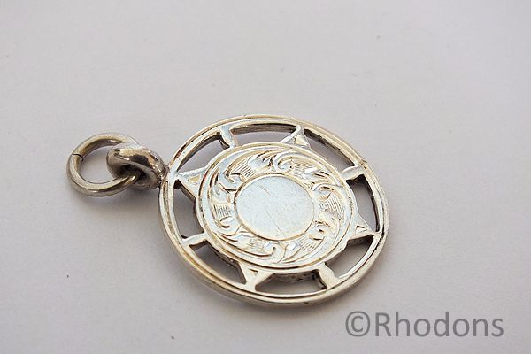 Silver Pocketwatch Chain Fob, 1930s