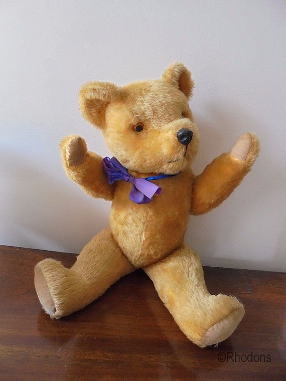 "Vintage Pedigree Teddy Bear 20"", Circa 1950s"