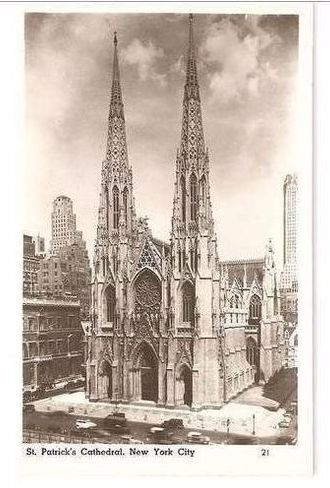 USA: New York. St Patricks Cathedral New York City. 1920/30s Real Photo Postcard